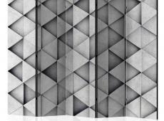 Paraván - Grey Triangles II [Room Dividers]